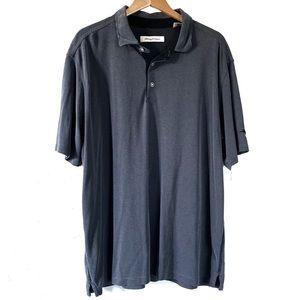 Tommy Bahama Dark Grey Pin Stripe Polo Shirt XXL
